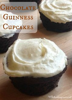 Chocolate Guinness cake is a wonderfully dense and moist chocolate cake that is not overly sweet yet still rich with a hint of malt from the Guinness beer. Cupcake Recipes, Baking Recipes, Cupcake Cakes, Dessert Recipes, Baby Cakes, Asian Desserts, Just Desserts, Chocolate Guinness Cake, Photo Food