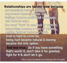 natural log and relationship message