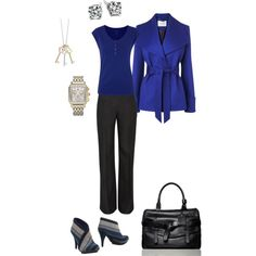 """""""Blue and Gray Workwear"""" by fberrydee on Polyvore"""