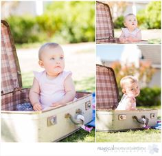 9 month old girl in vintage suitcase Children Photography, Family Photography, Photography Ideas, 9 Month Olds, 9th Month, Cape Town, Toy Chest, Storage Chest, Suitcase