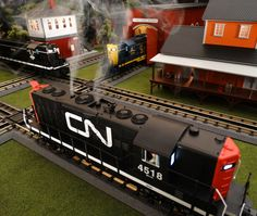 Now arriving and in-stock 2015 MTH RailKing GP9 Diesel. Featured in the 2015 Volume 1 RailKing & Premier O Gauge Trains Catalog the RailKing GP9 comes in Canadian National 30-20267-1, Illinois Central 30-20268-1, Santa Fe 30-20269-1, and Chessie 30-20270-1 (not shown). The RailKing GP9 operates on O-31 Curves and these 2015 Proto-Sound 3.0 models have a MSRP of $329.95. Ask your MTH Dealer about getting a RailKing O Gauge GP9 today.