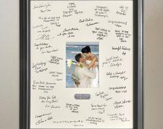 Livre dor mariage Alternative Signature photo par LetteringMania