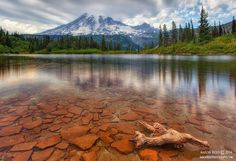Stepping Stones - Bench Lake, Mt Rainier National Park by Aaron Reed on 500px