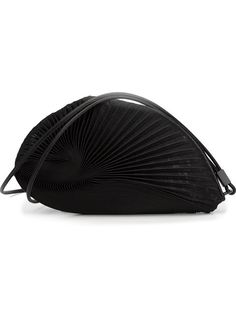 Shop Issey Miyake seashell effect pleated clutch in Anastasia Boutique from the world's best independent…