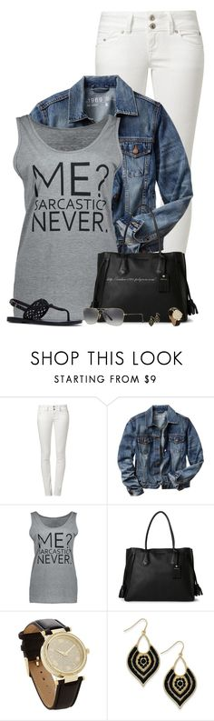 """""""Me? Sarcastic? Never."""" by amber-1991 ❤ liked on Polyvore featuring LTB, Gap, Longchamp, Ray-Ban, casual, tanktop, sandals and denimjacket"""