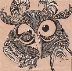 Купить Совушка - чёрно-белый, сова, совушка, купить картину, подарок, подарок для женщины, животные