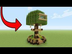 Minecraft Tutorial: How To Make A 2 Player Survival Tree Base (Survival Base) Minecraft Farmen, Construction Minecraft, Easy Minecraft Houses, Minecraft House Designs, Minecraft Survival, Amazing Minecraft, Minecraft Tutorial, Minecraft Blueprints, Minecraft Crafts
