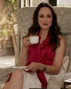 Get the Exclusive Fashion and Plot Details From Last Night's Revenge Revenge Tv Show, Victoria Grayson, Madeleine Stowe, Revenge Fashion, Ralph Lauren Skirts, Warm Weather Outfits, Classic Actresses, Muslim Women, Celebs