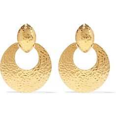 Ben-Amun Gold-tone clip earrings (685 VEF) ❤ liked on Polyvore featuring jewelry, earrings, gold, gold clip earrings, goldtone jewelry, gold jewellery, clip-on earrings and ben amun jewelry