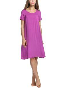 32960aed013fe Maternity Dresses - Dorani Maternity Nursing Pajamas For Hospital Short  Sleeve Pregnancy Nightwear Purple Small *
