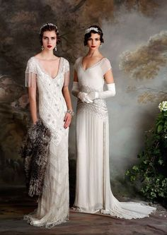 Gatsby Vintage Inspired Eliza Jane Howell Evelyn and Naomi Wedding Dress  :  Debutante Collection | itakeyou.co.uk