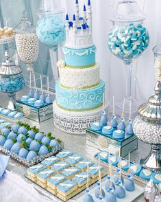Cinderella party styled with beautiful blue details and white Amalfi Décor cake stands Cinderella Quinceanera Themes, Quinceanera Cakes, Quinceanera Decorations, Blue Birthday Parties, Frozen Themed Birthday Party, Birthday Party Decorations, Cinderella Birthday Parties, Baby Shower Decorations, Cinderella Sweet 16