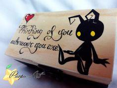 Box wood heartless Kingdom Hearts by paopuART on Etsy