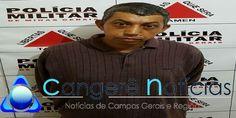 Homem é preso por tráfico de drogas no bairro Baixão em Campos Gerais-MG