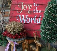 Best DIY Projects For Home Decorating: Joy to the World Christmas Pallet