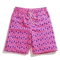2017 Couples Swimwear Geometric Swimming Shorts Men&Women Sports Beach Sunga Swimsuit Boardshorts Men Bermuda Surf Board Shorts