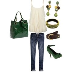 Green Jeans :), created by jdo66 on Polyvore