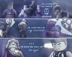 """• #LEGO #Ninjago #S3 #Rebooted • [""""he stood between me and my demons""""] #quote • #Pixal #Zane #ZaneJulien • My Edit. Hope you'll like it! :-)"""
