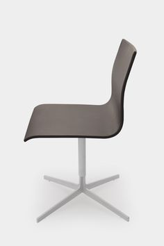 Brown chair with clean lines and slender proportions | chair . Stuhl .  chaise | Design: Jop van Beek |