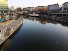 Spring in Vienna, Donaukanal, Schwedenplatz, Graffiti