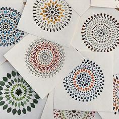 Beautiful Watercolor Mandalas ✨ by: @claudiacalderas @claudiacalderas @claudiacalderas