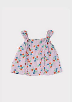 Verbena Baby Top, Sheer Lilac Dotty