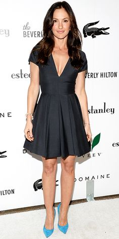 Dior lbd and bright shoes