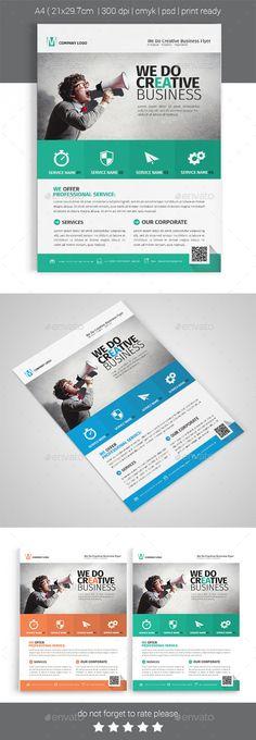 A4 Corporate Business Flyer Tempalte #flyertemplate Download: http://graphicriver.net/item/a4-corporate-business-flyer-template-vol-03/12166312?ref=ksioks