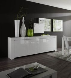 Buffet/Bahut design laqué blanc Twist