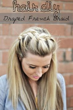 draped french hairstyle braid