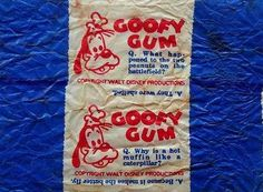 Goofy Gum, Christchurch, New Zealand. Kiwiana, King And Country, My Generation, All Things New, The Old Days, My Childhood Memories, Do You Remember, Old Toys, Old And New