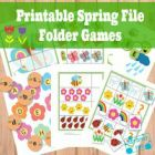 Spring File Folder:  Free Printable. 6 games that will help teach kids their ABC's, counting 1 to 10, colors, shapes, number recognition, simple words and patterns. From: Itsy Bitsy Fun, check out her site, she has lots of freebies and great ideas.