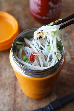 Making your own lunch has never been more fun! Get this easy, tasty and healthy Thai Noodle Soup in a Cup Recipe from Pickled Plum - over 350 recipes.