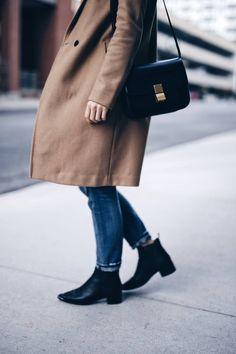 Camel coat, Celine box bag, Acne Studios boots | The August Diaries