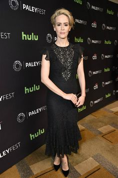 """Sarah Paulson attends a panel for """"American Horror Story: Hotel"""" during PaleyFest 2016 presented by The Paley Center for Media in Los Angeles on March 20"""