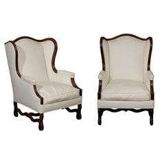 Pair of 19th Century French Bergere Chairs Louis XIV Circa 1880