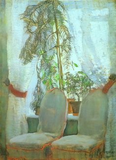 The Window. Moscow, artist's parents appartment - Konstantin Yuon 1905