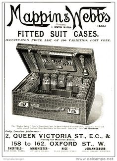 Original - Anzeige / Advertise 1903 : (ENGLISH) MAPPIN & WEBB'S FITTED  SUIT CASES -  130 X 180 Mm - Werbung