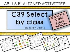 ABLLS-R ALIGNED ACTIVITIES: C39 Select by Class