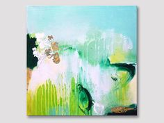 Original abstrakte Malerei moderne Kunst Acrylbild von ARTbyKirsten