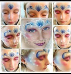 Ice princess face paint