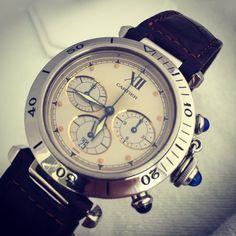 """Cartier pasha chrono quartzs 38 mm for sale"" Photo taken by @superwatchesmiami on Instagram, pinned via the InstaPin iOS App! http://www.instapinapp.com (04/17/2015)"