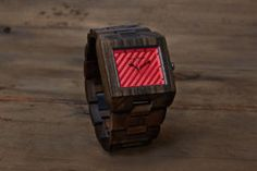 Luxury Wooden Watch with a quality Japanese Movement- The Garwood Kuta. This unique watch is designed using natural Indonesian Sandalwood. Famous Black, Wooden Watch, Watch Sale, Square Watch, Cool Gadgets, Digital Watch, Bracelet Watch, Rings For Men, Mens Fashion