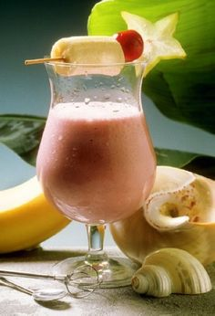 Cherry Banana Smoothie recipe from Weight Watchers  2 points, could be a good meal supplement