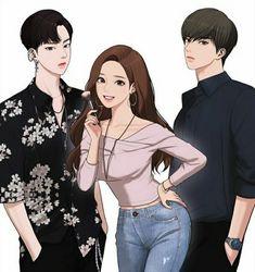 Sweet Couple Cartoon, Cute Cartoon, Anime Couples Drawings, Cute Anime Couples, Digital Art Beginner, Wattpad Book Covers, Korean Anime, Girl With Brown Hair, Beauty Background