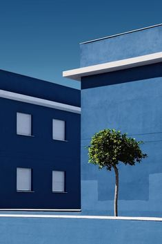 - architecture and nature by juanjo fernández blue aesthetic & inspi Colour Architecture, Modern Architecture, Minimal Photography, Art Photography, Landscape Photography, Photocollage, Foto Art, Blue Aesthetic, Shades Of Blue
