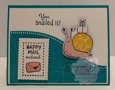 Snail Cards, Napkin Cards, Flower Stamp, Stamping Up Cards, Animal Cards, Pop Up Cards, Paper Pumpkin, Anniversary Cards, Homemade Cards