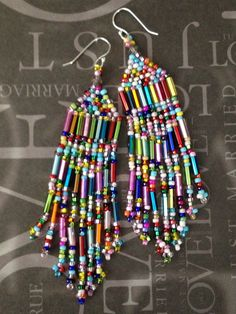 Super Long Beaded Confetti Fringe Seed Bead van WorkofHeart op Etsy