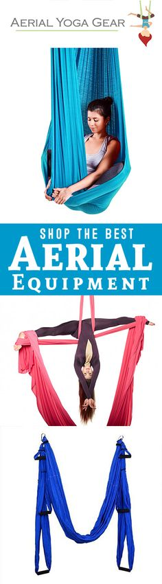 Aerial Yoga Gear is the leader in premium quality aerial silks, hammocks, rigging equipment, apparel and more! Aerial yoga is amazing for beginners, as well as athletes who want to up their game. Build upper arm strength, boost core strength, and stretch your spine!