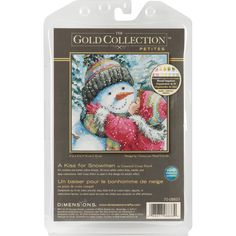 The Gold Collection Petite: Counted Cross Stitch Holiday Collection.  The Gold Collection Kits are wonderfully detailed with full and half cross stitches.  This kit contains 18 count Aida; felt; pre-sorted cotton thread; needle; and instructions.